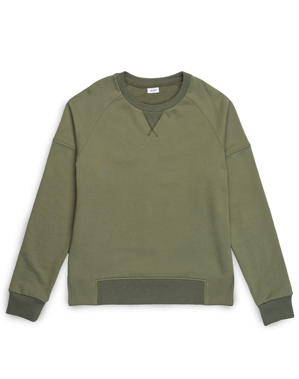 VERN OLIVE LONG SLEEVE SWEATER