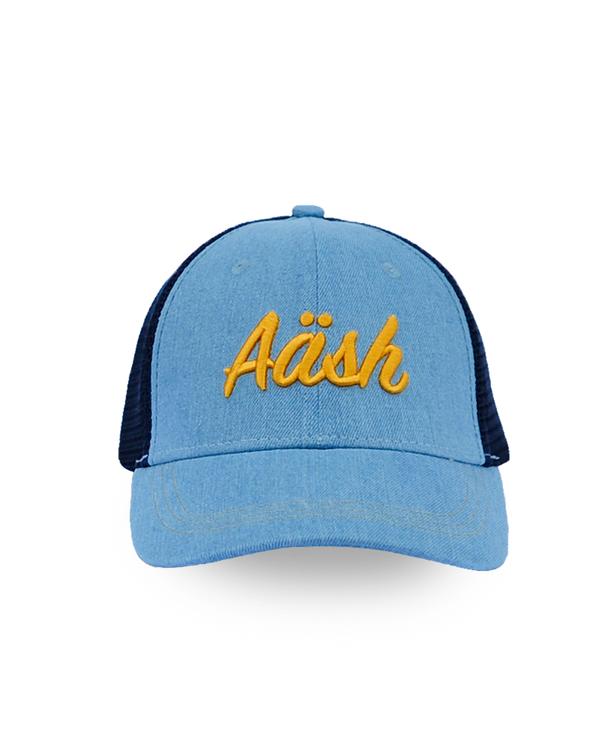 ASK BLUE DENIM TRUCKER CAP