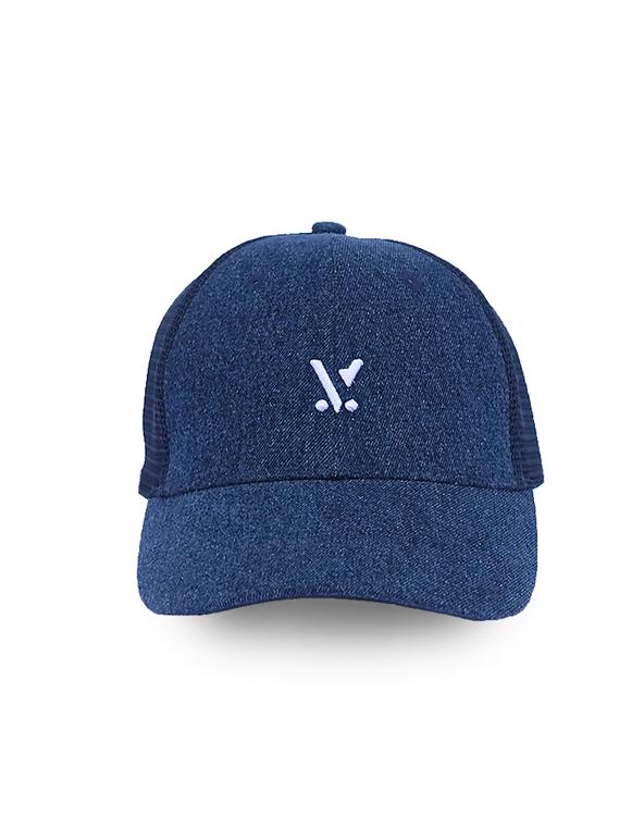 ULV BLUE DENIM TRUCKER CAP