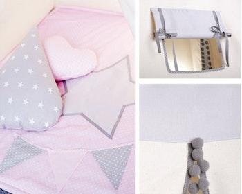 Star -  rosa Tipitält med lekmatta och kuddar