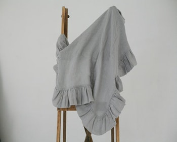Babyfilt i linne grå