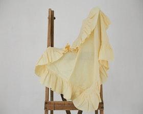 Babyfilt i linne gul