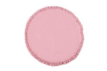 Kärlek - mörk-rosa lekmatta med volang