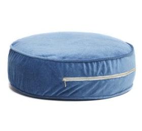 Ottoman - blå golvkudde i sammet