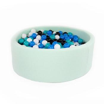 Mint bollhav (bollar – svart, blå, vit & turkos)