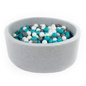 Grå bollhav (bollar – grå, vit & turkos)
