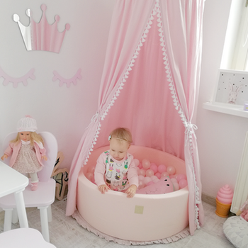 Meow baby - rosa bollhav (bollar – rosa, vit & grå)