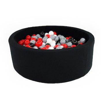 Meow svart bollhav (bollar – svart, röd, vit & grå)