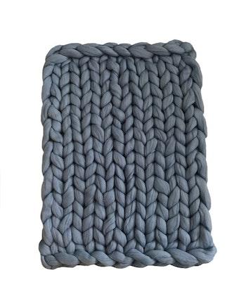 Blå - grovstickad filt
