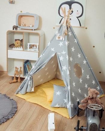 Tipi tält - Stjärnhimmel i gult - från Only Handmade
