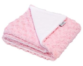 Mjukis - rosa fleecefilt