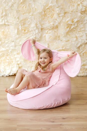 Bunny- rosa saccosäck