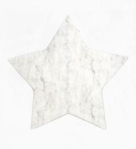 Barnmatta - marmor vit Stjärna