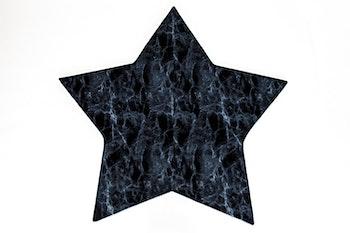 Barnmatta - marmor blå Stjärna