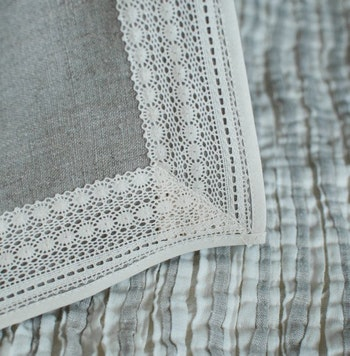 Stort grått tipi tält i linne