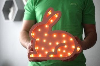 Kanin - Nattlampa för barn