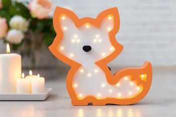 Räv lampa för barn från Only Handmade