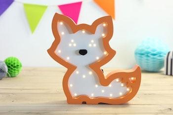 LED nattlampa för barn formad som räv