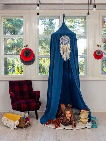 Havsblå - sänghimmel för barn