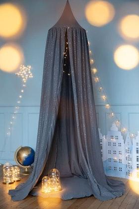 Dröm sött - grå sänghimmel