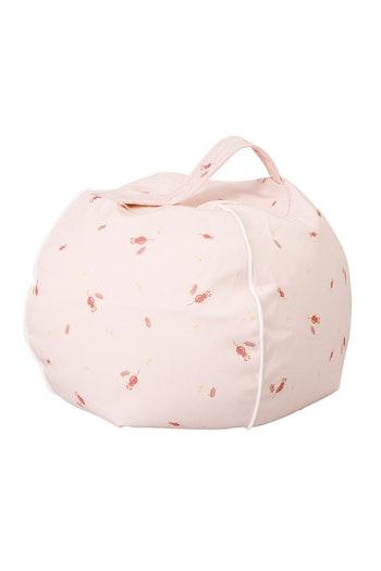 Rosé - rosa sittpuff för barn - gift- och kemikaliefri