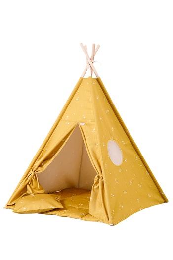 Tipi tält Honung i senapsgult från Only Handmade