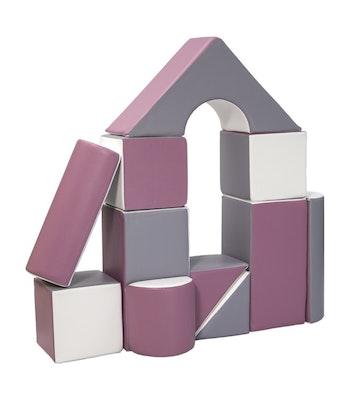 Stora mjuka byggklossar för barn - byggkuddar