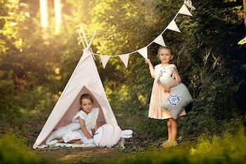 Utomhustält för barn i rosa
