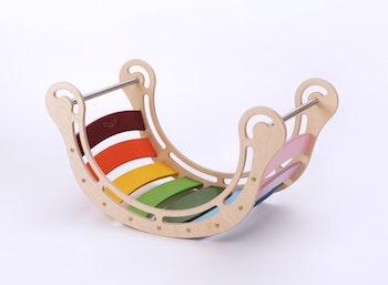 Montessori färgglad trägunga för barn från 1 år till 7 år