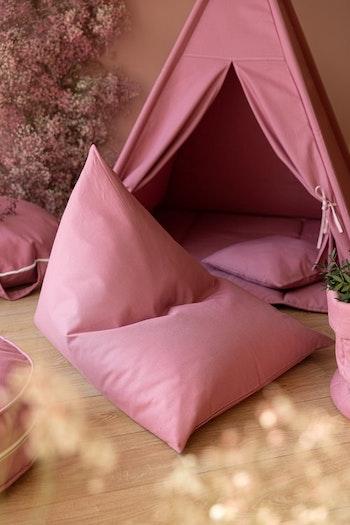Rosa charm - rosa saccosäck & sittsäck