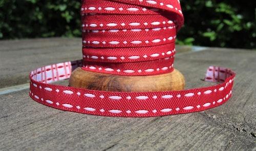 Tygband White stitch