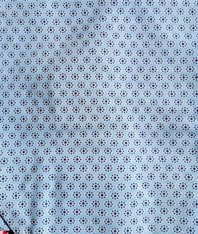 Tygpåse Miniblomma blå