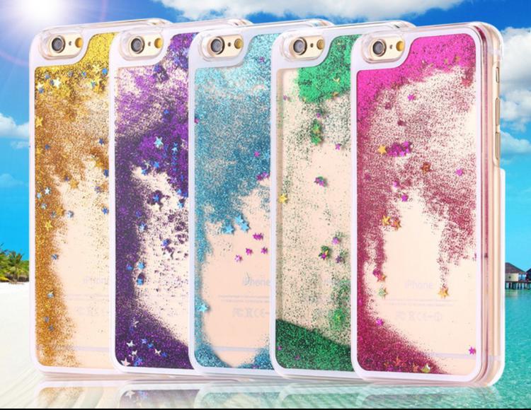 Glitter Skal - Iphone 6/6S  - Rörelse - Blå