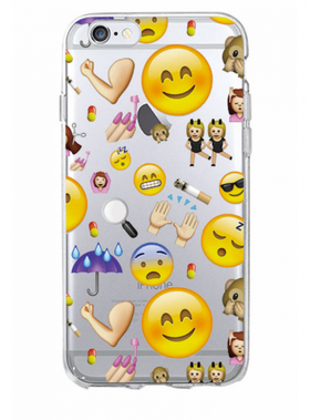 Iphone 6/6S Plus Skal - Emoji - Blandade Favoriter  - Paraply - Mjukt
