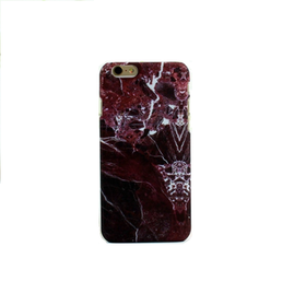 Iphone 5/5S/SE  - HardCase - Marmor - RödBrun