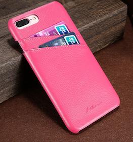 Iphone 7/8 Plus - Skal -Korthållare -Vintage - Rosa