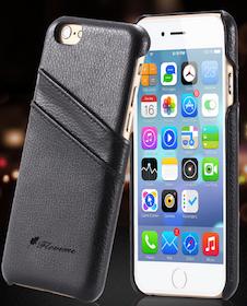 Iphone 7/8 Plus - Skal -Korthållare -Vintage - Svart