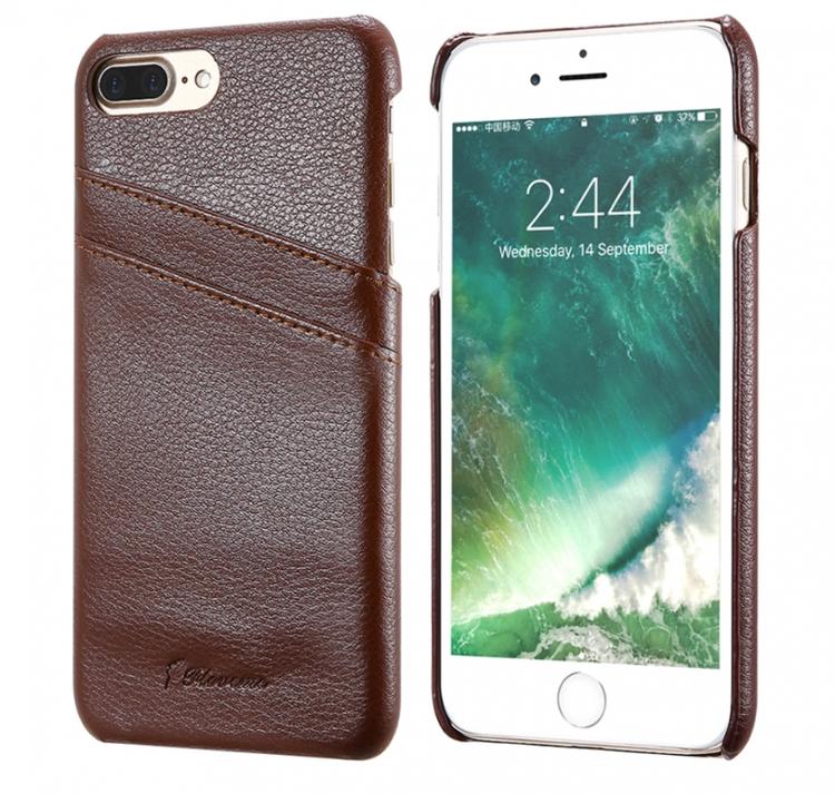 Iphone 7/8 Plus - Skal -Korthållare -Vintage - Brun