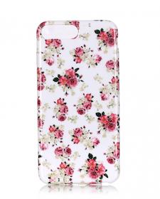 Iphone 7/8 Plus - Mjukt Mobilskal - Rosor- Vit  -TPU