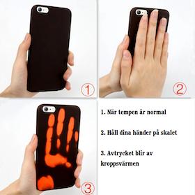 Iphone 7/8 Plus - Värmeskal - Avtryck - Temp - Svart/Röd