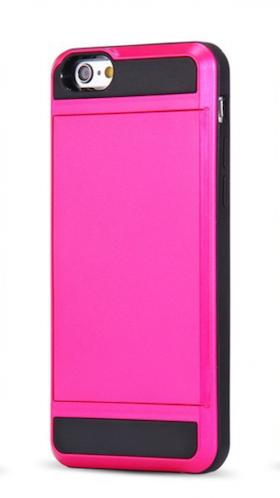 Iphone 7/8 Plus - Slideskal -Korthållare - Rosa