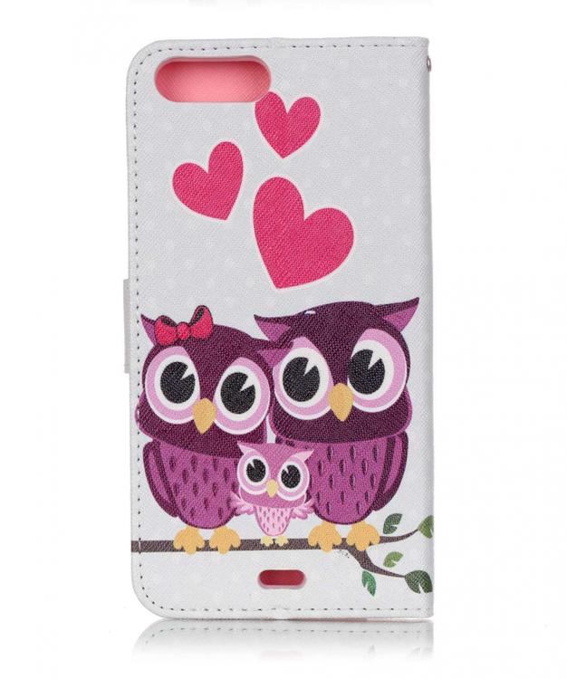 Iphone 7/8 Plus -Plånbok - UggleFamilj - Hjärtan