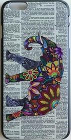 Iphone 6 Plus - Mobilskal - Elefant- Tidning Aztek
