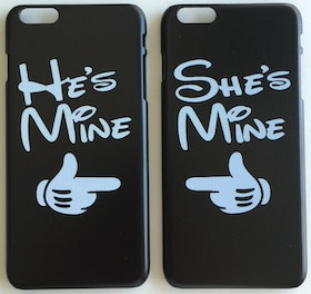 Iphone 6 Plus - Mobilskal - He´s Mine She´s Mine -1 Par