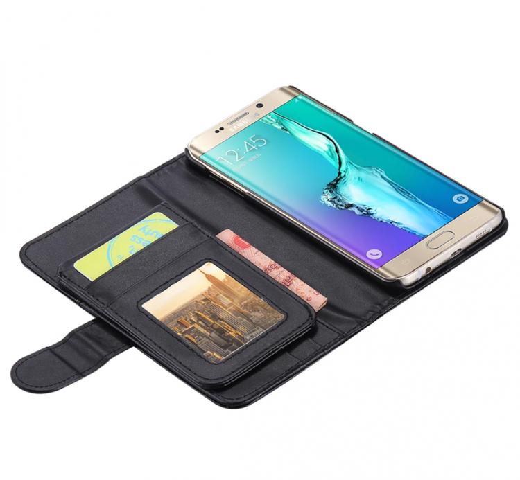 Samsung Galaxy S7 Plånbok - 7 Kortplatser -Sedelfack - Svart