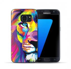 Samsung Galaxy S7 Skal -Lejon - Färgglad