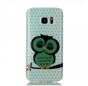 Samsung Galaxy S7 Skal -Uggla - Grön