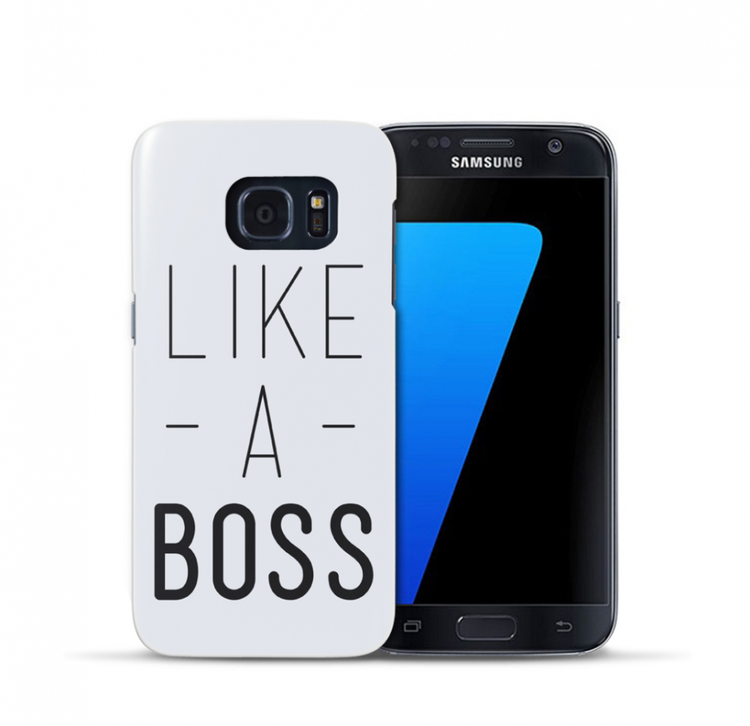 Samsung Galaxy S7 Skal - LIKE A BOSS - Vit