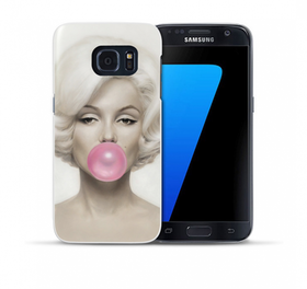 Samsung Galaxy S7 Skal - Marilyn Monroe - Rosa Tuggummi
