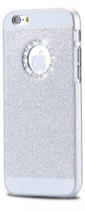 Glitter Skal - Iphone 6/6S  - Gnistrande Stenar - Lyx -Silver